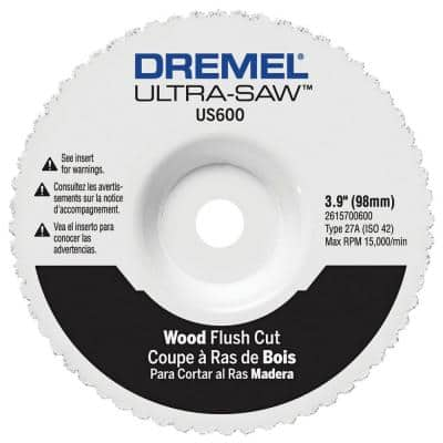 Ultra-Saw 3.9 in.  Flush Cut Wheel for Wood and Plastic