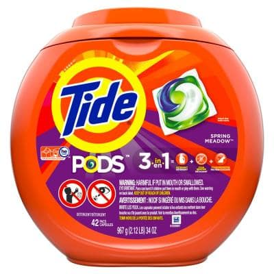Tide Spring Meadow Scent Laundry Detergent Pods (42-Count)