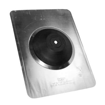 Aurora No-Calk 9-1/2 in. x 12-1/2 in. Solar Vent Pipe Roof Flashing with 1/2 in. - 1 in. Adjustable Diameter