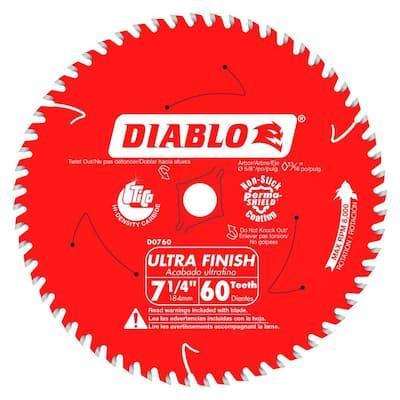 7-1/4 in. x 60-Tooth Fine Finish Circular Saw Blade