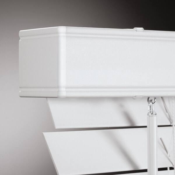 34x72 en Blanc sans fil Faux Bois aveugles salle de noircissement Privacy Window Shade Baguette