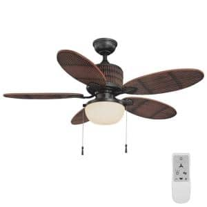 Tahiti Breeze 52 in. LED Natural Iron Ceiling Fan with Light - WiFi Remote Control works with Google Assistant and Alexa