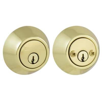 Double Cylinder Polished Brass Deadbolt