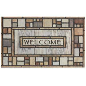 Welcome Drifted Nature 23 in. x 35 in. Doorscapes Estate Mat