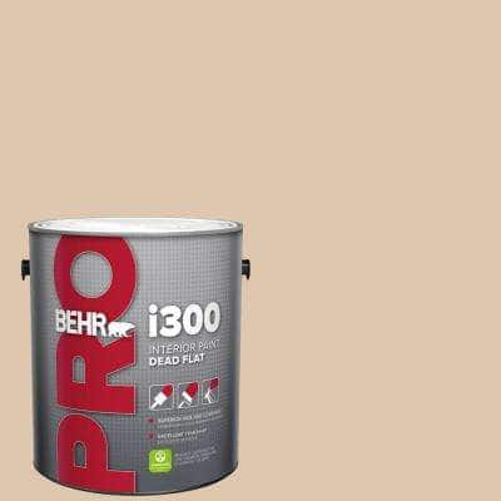 Behr Pro 1 Gal N260 2 Almond Latte Dead Flat Interior Paint Pr31001 The Home Depot