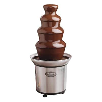 4-Tier Stainless Steel Chocolate Fountain