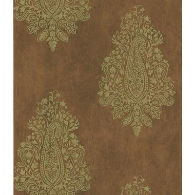 Paisley Print Reds/Pinks Wallpaper Sample