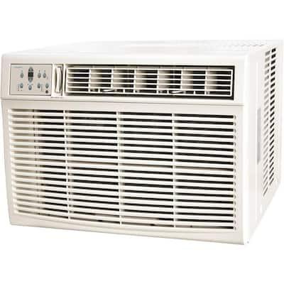 25000 BTU/24700 BTU 230-Volt Window/Wall Air Conditioner with 16000 BTU Supplemental Heat Capability in White