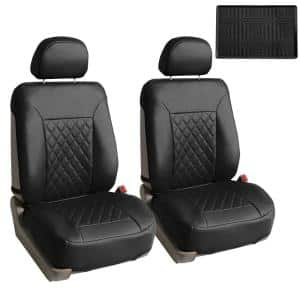 Quality Faux Leather 47 in. x 23 in. x 1 in. Diamond Pattern Car Seat Cushions