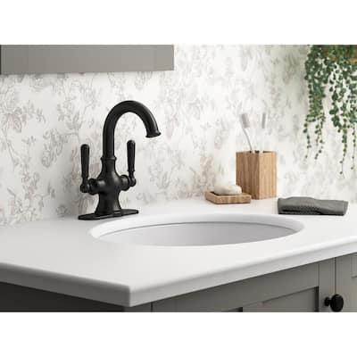 Capilano Monoblock 4 in. Centerset 2-Handle Bathroom Faucet in Matte Black