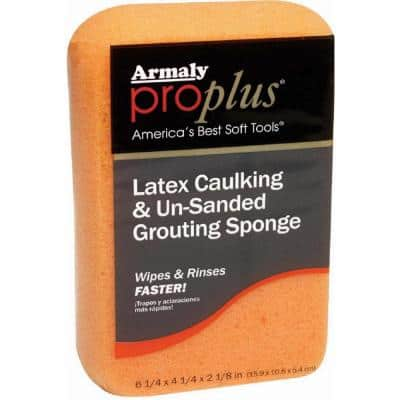 Latex Caulking and Un-Sanded Grouting Sponge (Case of 6)