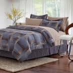 Shadow 8-Piece Brown Queen Comforter Set