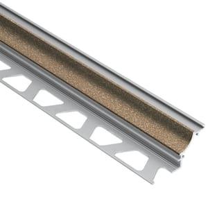 Dilex-AHK Beige Textured Color-Coated Aluminum 3/8 in. x 8 ft. 2-1/2 in. Metal Cove-Shaped Tile Edging Trim