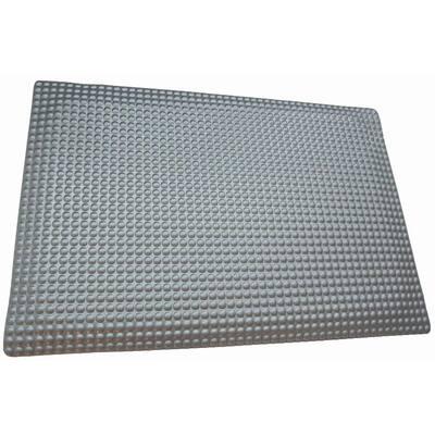 Reflex Metallic Raised Domed Surface 24 in. x 96 in. Vinyl Kitchen Mat