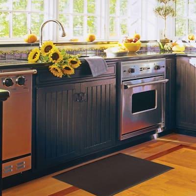 Kitchen Comfort Black 1 ft. 8 in. x 4 ft. Floor Mat