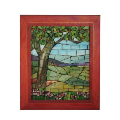 Springdale 10 in. H View Mt Mansfield Mosaic Art Glass Wall Panel