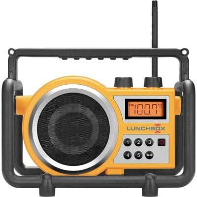 Compact AM/FM Ultra Rugged Digital Tuning Radio Speaker in Yellow