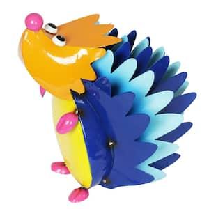 Metal Colorful Hedgehog Statue