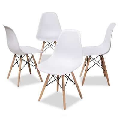 Sydnea White Acrylic Dining Chair (Set of 4)