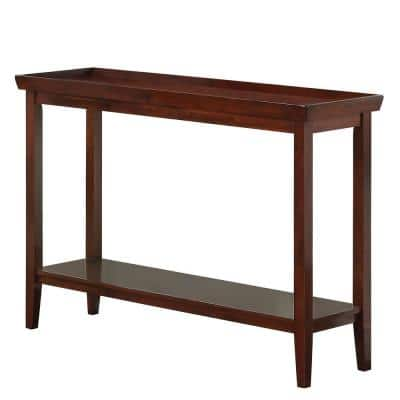48 in. Espresso Standard Rectangle Wood Console Table with Storage