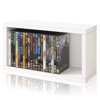 zBoard White Stackable DVD Rack Storage