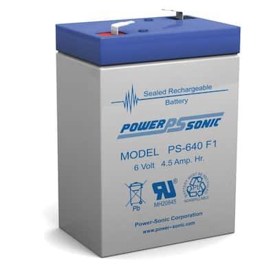 6-Volt 4.5 Amp Hour Rechargeable Sealed Lead Acid Battery