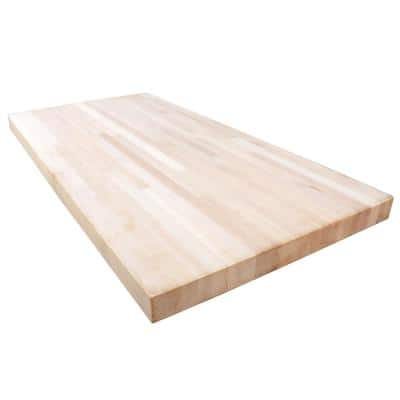 Maple 5 ft. L x 30 in. D x 1.5 in. T Butcher Block Countertop in Solid Wood with Clear UV