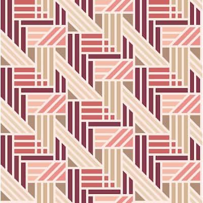 Pink Geo Medallion Peel and Stick Wallpaper