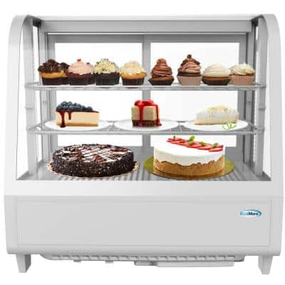 3.6 cu. ft. Commercial Refrigerator Countertop Display Case in White