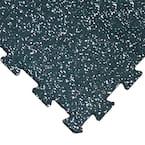 ReUz 0.24 in. T x 1.6 ft. W x 1.6 ft. L White Speckle Rubber Flooring Tiles (44 sq. ft.) (16-Pack)