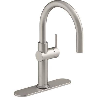 Crue Single-Handle Bar Faucet in Vibrant Stainless