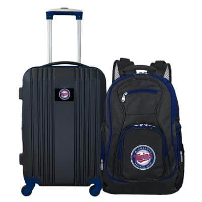 MLB Minnesota Twins 2-Piece Set Luggage and Backpack