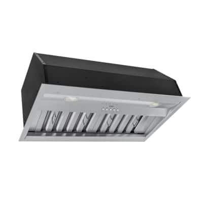 KOBE 30 in. 630 CFM Insert Range Hood with LED Lights and Baffle Filters in Stainless Steel