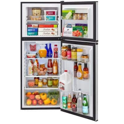 9.8 cu. ft. Top Freezer Refrigerator in Stainless Steel