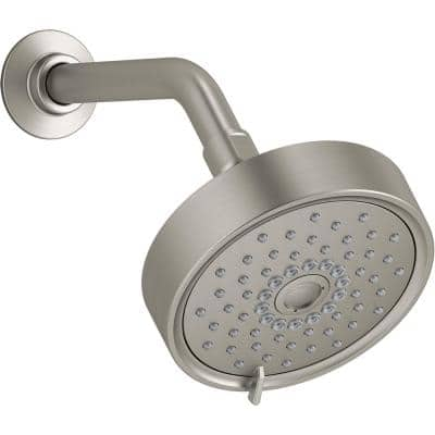 Purist 3-Spray Patterns 5.5 in. Single Wall Mount Fixed Shower Head in Vibrant Brushed Nickel