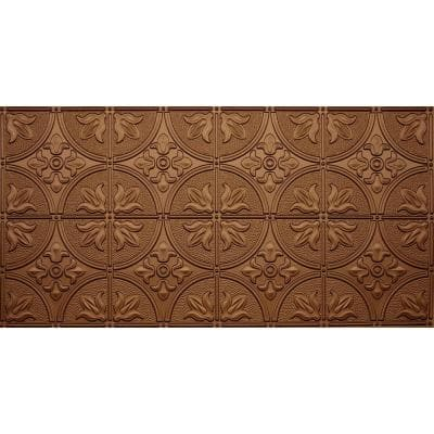 Dimensions 2 ft. x 4 ft. Glue Up Tin Ceiling Tile in Fused Bronze