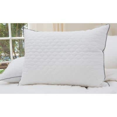 White Scallop Quilted Jumbo Pillow