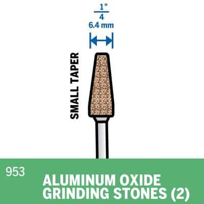 1/4 in. Rotary Tool Aluminum Oxide Pointed Cone Shaped Grinding Stone (2-Pack)