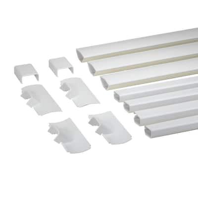 Wiremold CornerMate Cord Cover Home Entertainment Kit, White