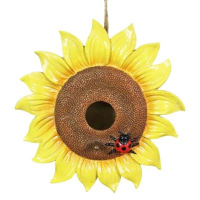 8.5 in. x 5 in. Sunflower Hanging Resin Birdhouse