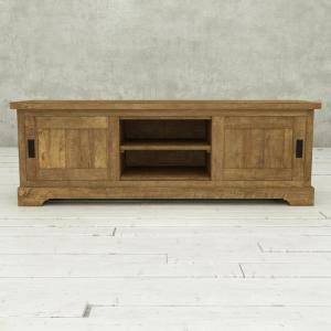 Muskoka 68 in. Natural Wood TV Stand Fits TVs Up to 68 in. with Storage Doors