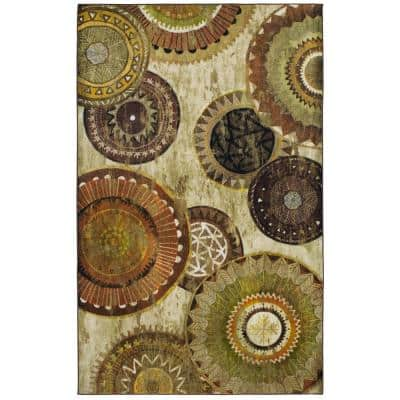 Armindale Brown 8 ft. x 10 ft. Geometric Area Rug