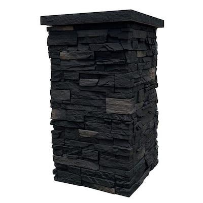 Country Ledgestone 30 in. x 16 in. Andean Onyx Faux Polyurethane Stone Siding Column Wrap (4-Piece)