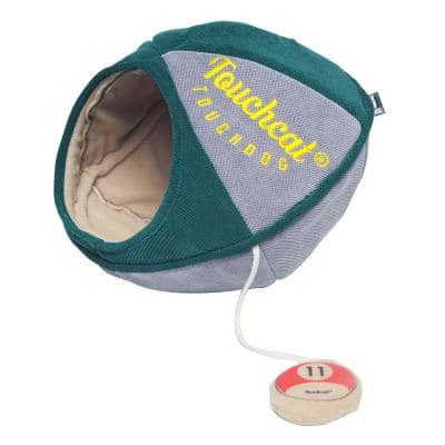 Green Saucer Oval Collapsible Walk-Through Pet Cat House Bed