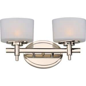 Lola 2-Light Polished Nickel Bath Vanity Light