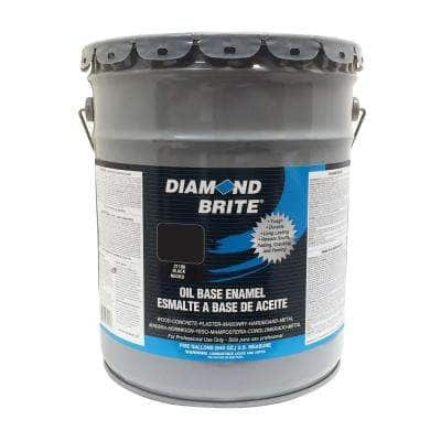 5 gal. Black Oil Base Enamel Interior/Exterior Paint