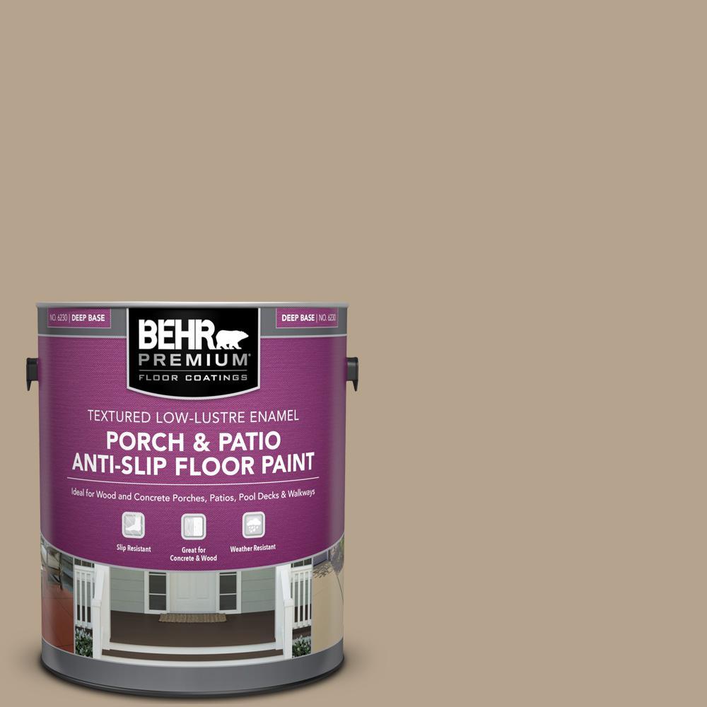 1 gal. #PFC-33 Washed Khaki Textured Low-Lustre Enamel Interior/Exterior Porch and Patio Anti-Slip Floor Paint