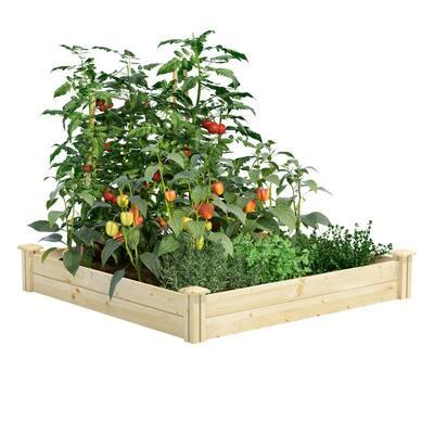 4 ft. x 4 ft. x 7 in. Original Pine Raised Garden Bed