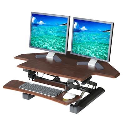 airLIFT 43.3 in. Rectangular Walnut Standing Desks with Adjustable Height