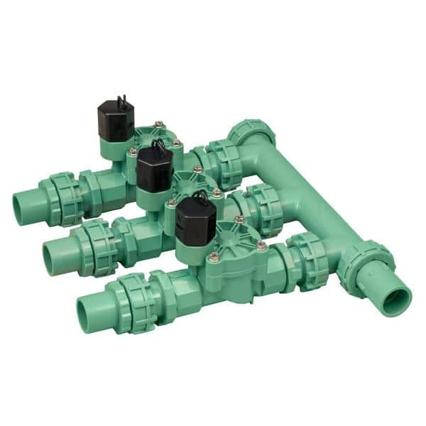 Orbit Controls Water Flow For 2 Sprinkler Lines 3 Valve Manifold 57253